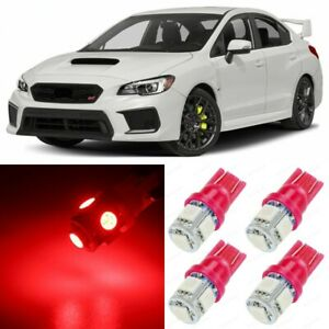 10 X Ultra Red Interior Led Lights Package For 2015 2018 Subaru Wrx Sti Tool