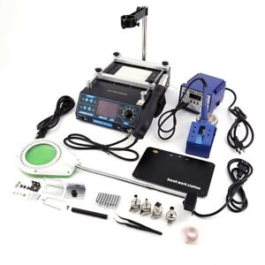 3 In 1 Soldering Iron Station Hot Air Preheating Station 939d 853aa 628a Oy
