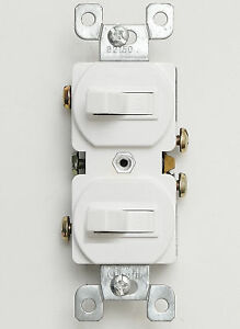 10 Pack Double Toggle Switch 15 Amp 120 Volt Toggle Switch Single Pole White