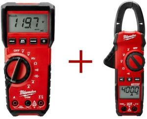 Heavy Duty Auto Ranging Digital Multimeter Clamp Meter Ac Dc Electrical Tester