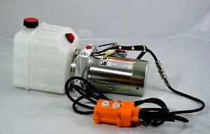 Single Acting 12 Volt Dc Hydraulic Power Unit 4 Quart Poly Tank
