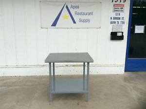 Stainless 36 X 30 Work prep Table W galvanized Under Shelf 3113