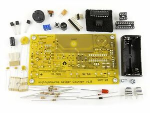 Mightyohm Geiger Counter Kit Bundle With Sbm 20 Geiger Tube Clear Acrylic Case