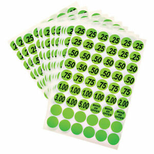 Hy ko Price Labels Green 3 4 Pack Of 10