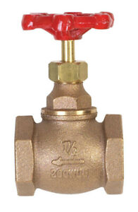 Mueller Globe Valve 0 25 Lead Threaded 1 1 2 Ips Bronze Bulk Large