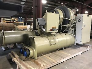 300 Ton Trane Chiller Factory Rebuild Cvhe Water Cooled Trane Chiller Low Hrs
