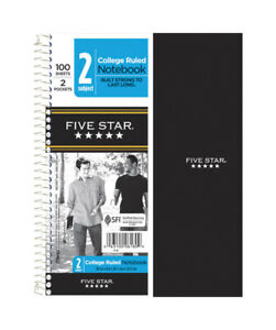Five Star Wire Bound Notebook 9 5 In X 6 In Red Case Of 12