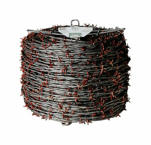 Red Brand Barbed Wire 1320 Red Galvanized Steel Pack 1