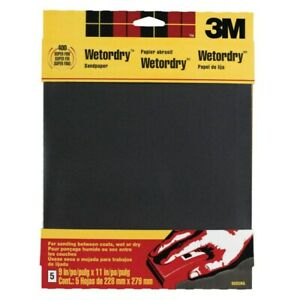 3m Waterproof Silicon Carbide Sandpaper 400 Grit Fine 9 X 11 Pack Of 10