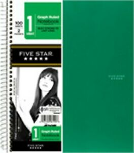 Five Star 06190 11 X 8 1 2 Graph Ruled 1 Subject Notebook Assorted Colors