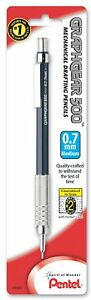 Pentel Pg527bp 0 7mm Blue Barrel Graph Gear 500 Automatic Drafting Pencil Pk