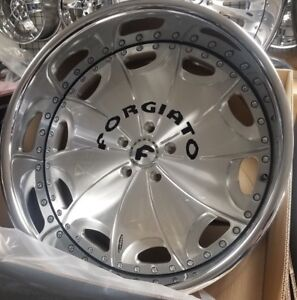 22 Forgiato Emilano Wheels 5x4 3 4 Box Chevy Cutlass Chevelle Buick Montecarlo