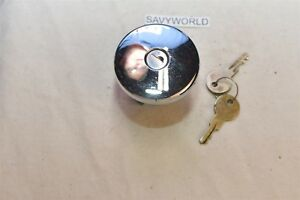 Locking Gas Cap Vintage Original Old Chrome Key Fuel Lid 1930 s 1940 s 1950 s Us
