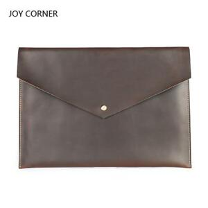 Cow Leather Organizer Document Folder Bag For Documents A4 Paper Office Folder