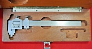 Vintage Brown Sharpe 7 Vernier Calipers In Original Wood Box Usa