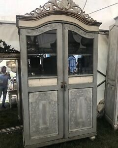 Rare Stunning Antique French Italian Armoire Painted Original