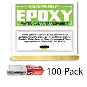 Hardman Double Bubble green Crystal Clear clear As Water Epoxy 100 Packs