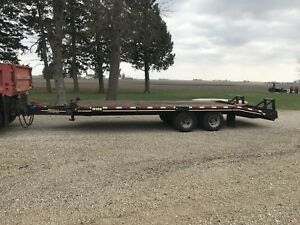 24 Deck Over Heavy Equipment Trailer Dual Tandem 10 000 Lb Axles