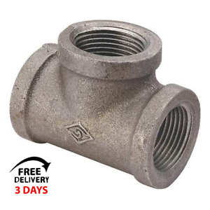 Lot Of 20 3 4 Inch Black Iron Gas Pipe Threaded Tee Fittings Plumbing