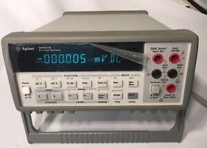 Agilent Hp 34401a Digital Multimeter 6 5 Digit Tested W Test Leads Pwr Cable