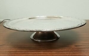 Vintage Oneida Silversmiths Silver Plated Pedestal Cake Stand 83 281