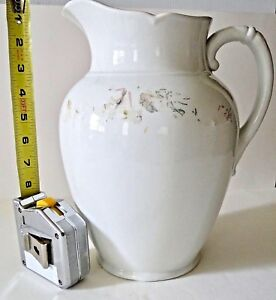 Ironstone Pitcher Vintage 19th Century Smith Ford England Est 122 Years Old