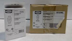Hubbell Gfci Commercial Led Outlet Receptacle Gf20wl Nib Box Of 10