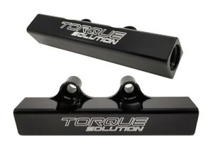 Torque Solution Top Feed Fuel Rails Black Fits Wrx 02 14 Sti 07 18 Lgt 07 12