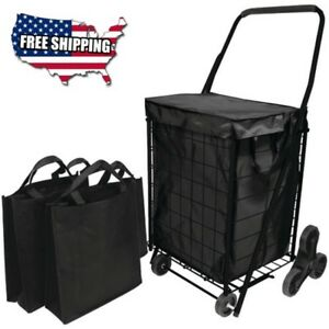 Hbclfq39908bk Fq39908bk Stair Climb Cart With Liner 2 Bags