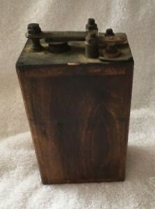 Vintage Ford Model T Ignition Coil Wooden Buzz Box Wooden Battery Early 1900 S