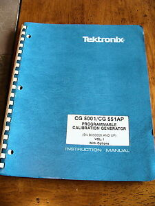 Tektronix Cg5001 Cg551ap Prog Calibration Generator Instruction Manual Vol 1