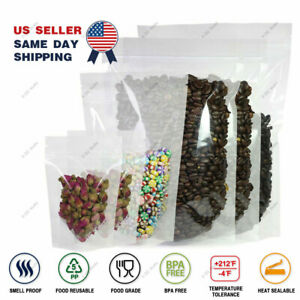 Assorted Sizes High Quality Clear Plastic Mylar Stand Up Zip Lock Pouch Bag M21