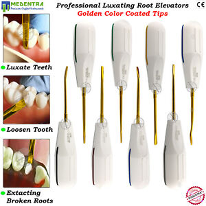 Dental Luxation Root Elevators Tooth Extracting Luxating Titanium Tips Set 8pcs