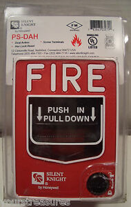 Silent Knight Ps dah Fire Alarm Manual Pull Station By Honeywell New