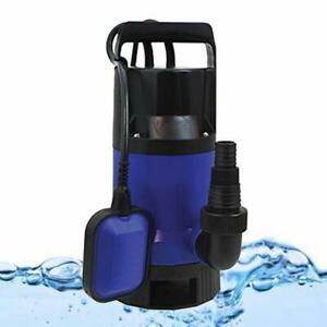 1x Plastic Water Pump 1hp 3432gph Submersible Clean Dirty Pool Pond Flood Drain
