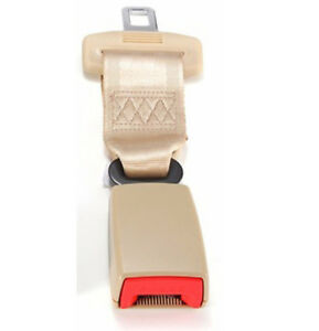 23cm Adjustable Car Auto Safety Seat Belt Extension Extender Buckle Cream