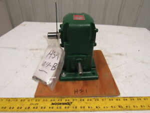 Ohio Gear Hs1 60 1 Ratio 5 8 x1 Shafts Left Hand Output Gear Reducer