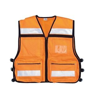 Ems Rescue Vest Hi visibility Safety Vest Orange Rothco 9561