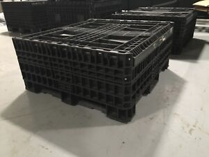 Heavy Duty Collapsible 45 X 48 X 42 Pallet Container With Top