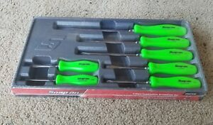 Snap On Green Hard Handle 7 Piece Combination Screwdriver Set Sddx70ag