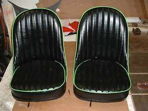 Custom Hot Rod 32 Ford leather Bucket Seats With Seat Tracks
