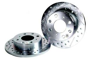 1974 1978 Ford Mustang Baer Sport Front Rotors Slotted Drilled Zinc Plated 1pc