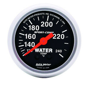 Auto Meter 3332 Sport Comp Mechanical Water Temperature Gauge 2 1 16 52mm
