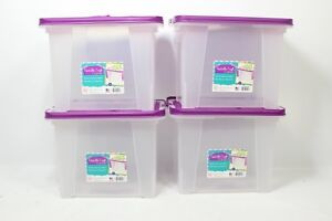 Iris Usa Inc Iris Letter Size Portable Wing Lid File Box Wi 585261 Preowned