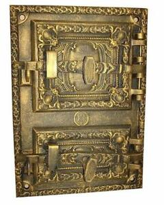 Cast Iron Fire Door Clay Bread Oven Pizza Stove Fireplace Gold Pz 41 5 X 29 5