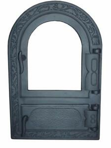 Cast Iron Fire Door Clay Bread Oven Pizza Stove Fireplace Grey Py 50 X 33