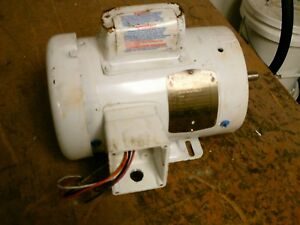 Baldor Washdown Duty Motor Cdwl3504 0 5hp 1800rpm 115 230v 8 4a 60hz 1ph Used