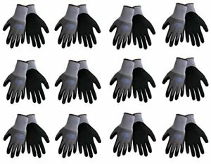 Tsunami Grip 500nft Nitrile Coated Work Gloves Sizes Small xl Gray black 12 P