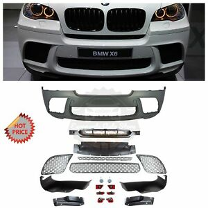 X6m Performance Style Front Plastic Bumper For Bmw 07 14 E71 X6 pdc Available