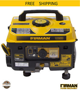 Firman Performance Series P01001 Gas Powered 1050 1350 Watt Portable Generator